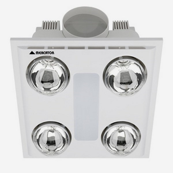 Cosmo Quattro Bathroom Heater With Exhaust Amp Light
